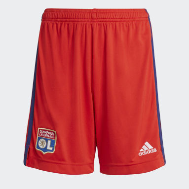Youth 8-16 Years Football Red Olympique Lyonnais 21/22 Away Shorts