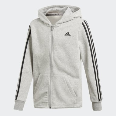 Boys Gym & Training Grey Must Haves 3-Stripes Jacket
