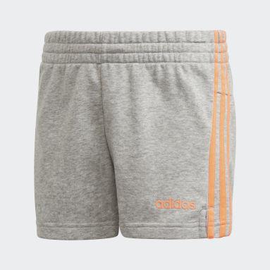 Youth 8-16 Years Sportswear Grey Essentials 3-Stripes Shorts