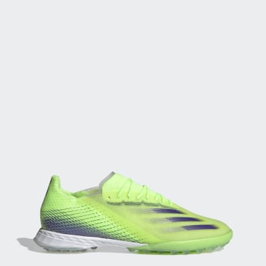 Men's Soccer Green X Ghosted.1 Turf Shoes