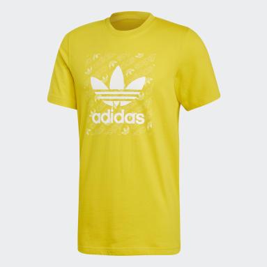 Camiseta Monogram Square Amarelo Homem Originals