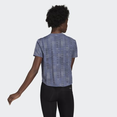 Women Running Purple adidas Own The Run Primeblue Tee
