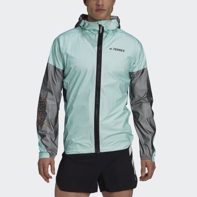 Chaqueta impermeable Terrex Agravic Pro Trail Running Verde Hombre TERREX