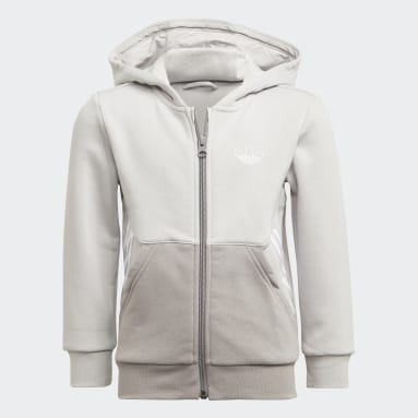 Ensemble adidas SPRT Collection Full-Zip Hoodie Gris Enfants Originals