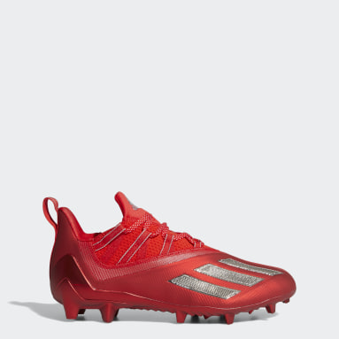 Men's Football Red Adizero 11.0 Turbo Fuel Football Cleats