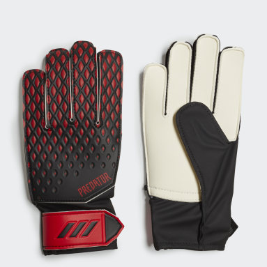 Youth 8-16 Years Football Black Predator 20 Training Goalkeeper Gloves
