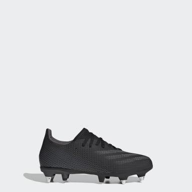 Bota de fútbol X Ghosted.3 césped natural húmedo Negro Niño Fútbol