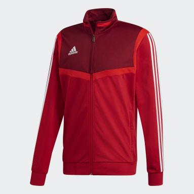 Veste Tiro 19 Polyester Rouge Hommes Fitness Et Training