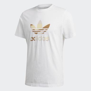 T-shirt Camouflage Trefoil Blanc Hommes Originals