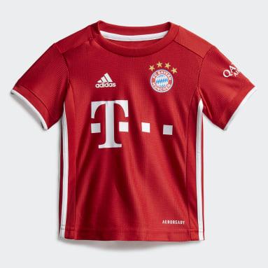 Kit Principal do FC Bayern München para Bebé Vermelho Criança Futebol