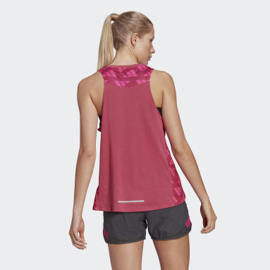 Women Running Pink Own The Run Celebration Tank Top
