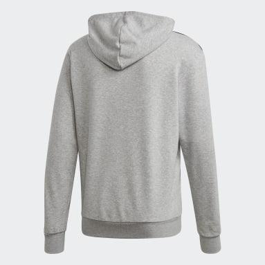 Men's Essentials Grey Essentials 3-Stripes Hoodie
