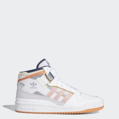 Women Originals White Forum Mid TT Shoes