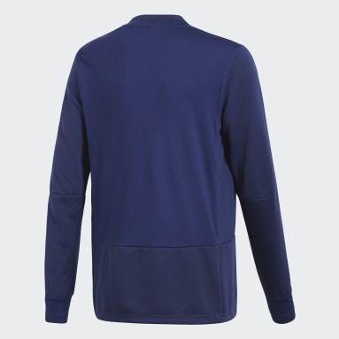 Camiseta manga larga entrenamiento Condivo 18 Player Focus Azul Niño Gimnasio Y Entrenamiento