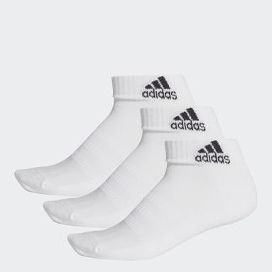 Training Beyaz Yastıklamalı Bilek Boy Çorap - 3 Çift
