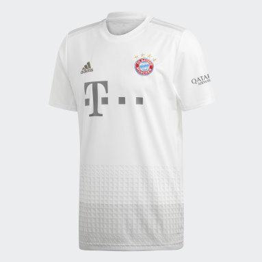 Men Football White FC Bayern Away Jersey