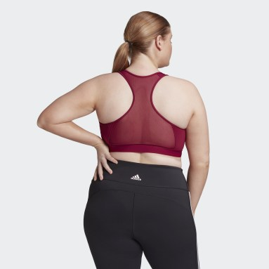 Women HIIT Burgundy Don't Rest Alphaskin Padded Bra (Plus Size)