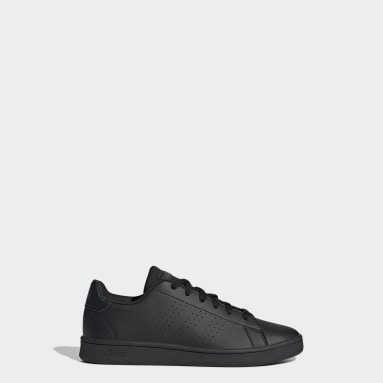 Kids Sport Inspired Black Advantage Shoes