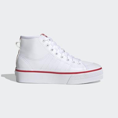 Kvinder Originals Hvid Nizza Platform Mid sko