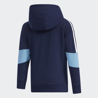 Children Training Blue French Terry Hoodie