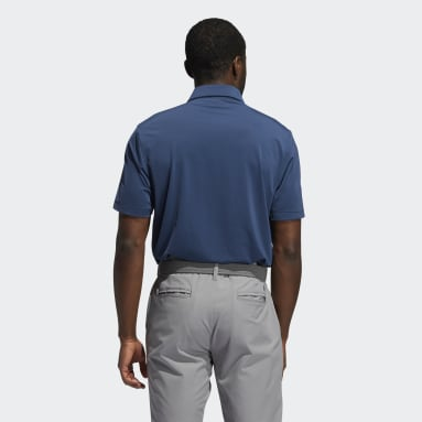 Heren Golf Blauw Ultimate365 Solid Left Chest Poloshirt