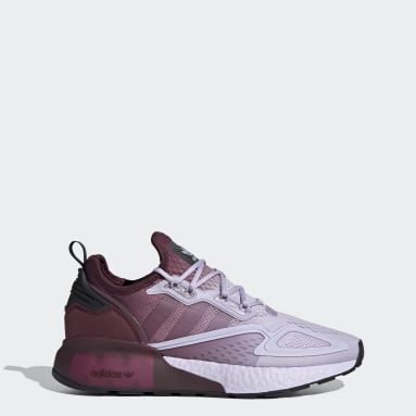 Women Originals Purple ZX 2K Boost Shoes