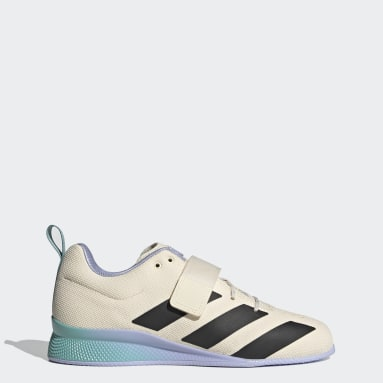 Men's Weightlifting White Adipower Weightlifting II Shoes