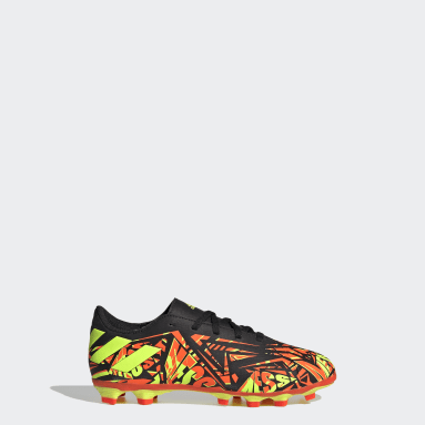 Boys Football Orange Nemeziz Messi.4 Flexible Ground Boots