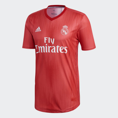 Herr Fotboll Röd Real Madrid Authentic Third Jersey