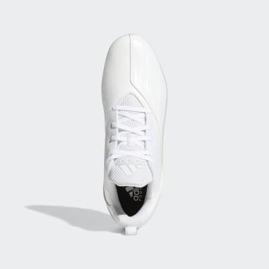 Men's Football White Adizero Spark Football Cleats