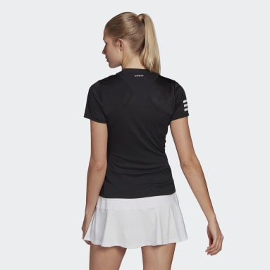 Women Tennis Black Club Tennis Tee