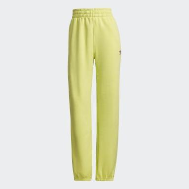 Women Originals Yellow Adicolor Essentials Fleece Joggers