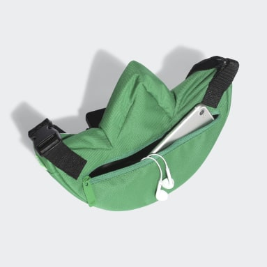 Youth 8-16 Years Originals Green Trefoil Sling Bag