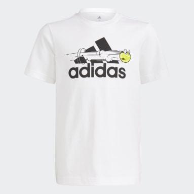 белый Теннисная футболка с принтом