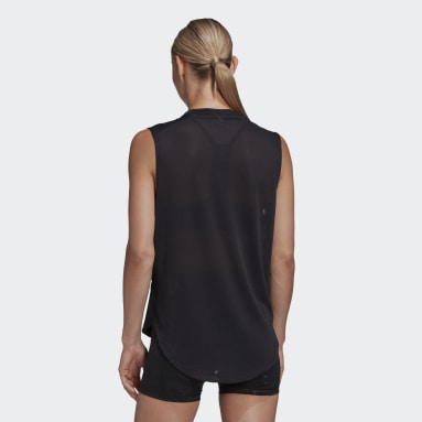 Women Volleyball Black GLAM ON VOLLEYBALL TANK
