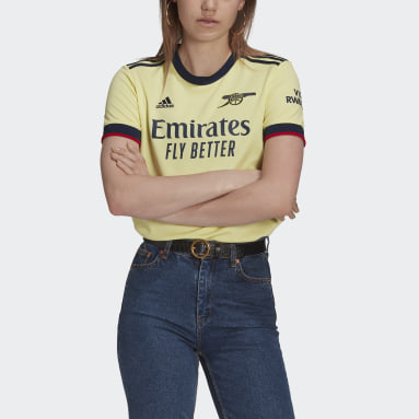 Women's Soccer Yellow Arsenal 21/22 Away Jersey