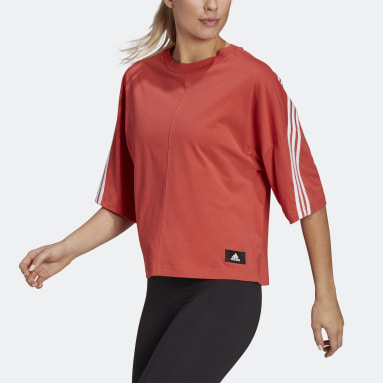 Women Sportswear Red adidas Sportswear Future Icons 3-Stripes Tee