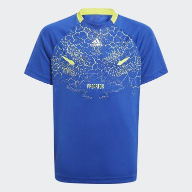 синий Футболка для фитнеса Predator