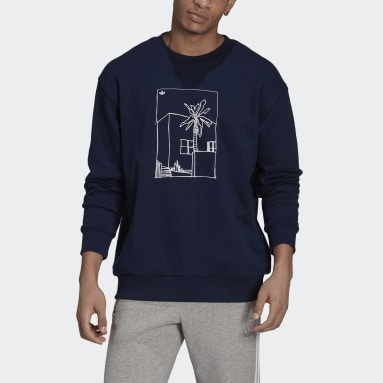 Men Originals Blue Graphic Crew Sweatshirt