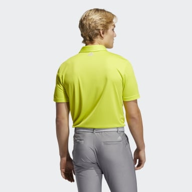Polo 3-Stripe Basic jaune Hommes Golf