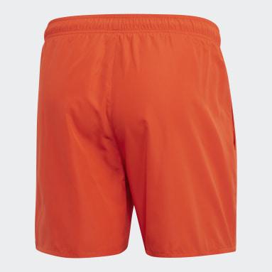 Heren Watersport Oranje Solid Zwemshort