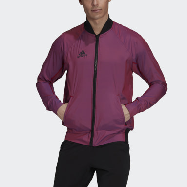 Men Tennis Purple Tennis  Primeblue VRCT Jacket