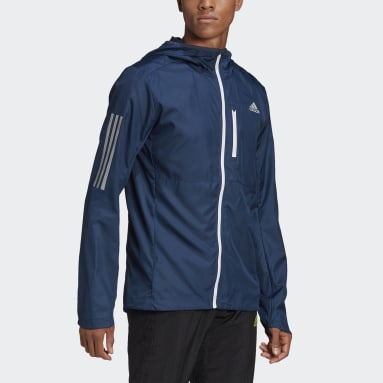 Giacca a vento Own the Run Hooded Blu Uomo Running