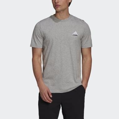 Men Tennis Grey Tennis Graphic T-Shirt