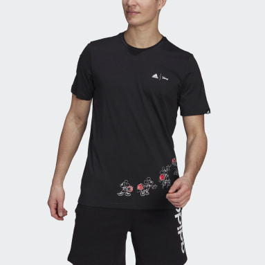 Men Sport Inspired Black adidas x Disney Mickey Dunk Graphic Tee