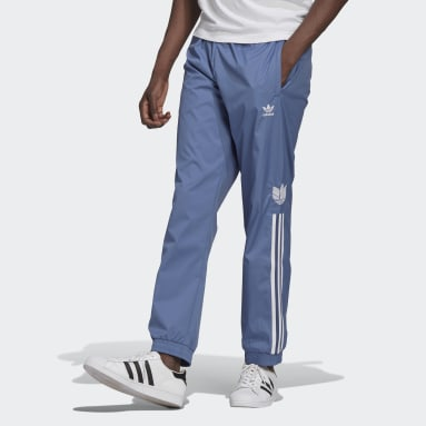 Adicolor 3D Trefoil 3-Stripes Track Pants Niebieski