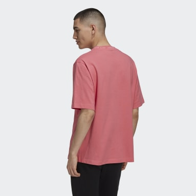 Men Originals Pink Rib Detail Tee