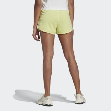 Women's Originals Yellow Zip-Up Shorts