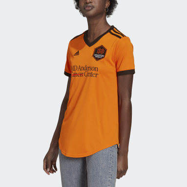 Women's Soccer Orange Houston Dynamo 21/22 Home Jersey