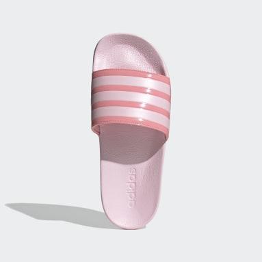 Ženy Plavání růžová Pantofle adilette Shower